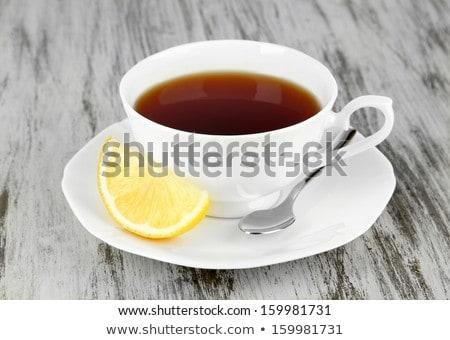 siyah · çay · seramik · çay · fincanı · Asya · geleneksel - stok fotoğraf © restyler