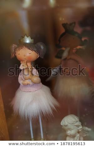 Bastante nina ardilla vestido posando cesta Foto stock © acidgrey
