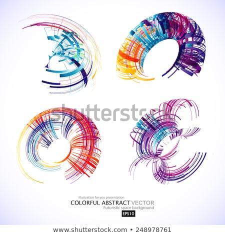 conjunto · diferente · spiralis · projeto · elementos · assinar - foto stock © blaskorizov