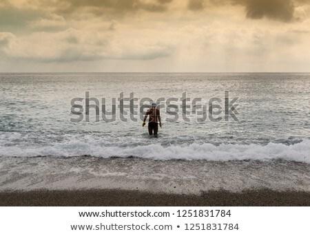 спрей морем человека пляж воды текстуры Сток-фото © galitskaya