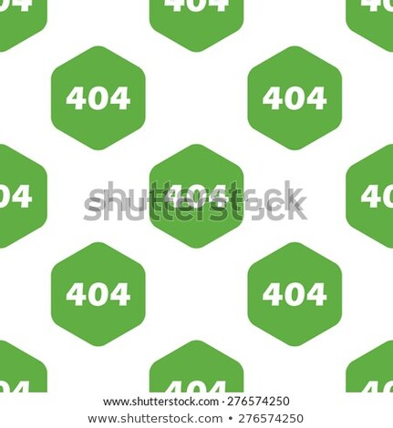 illustrator of 404 error page not found vector green background with eyes Modern design Stock photo © Natali_Brill