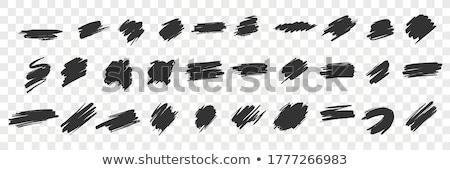 Czarny pastel stylu rysunku zestaw ilustracja Zdjęcia stock © Blue_daemon