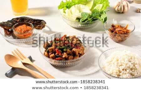 Rijst populair traditioneel indonesisch lokaal Stockfoto © szefei