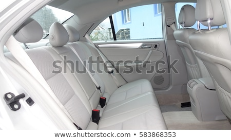 Leather interior design, car passenger and driver seats, clean, angle view side Stock photo © ruslanshramko