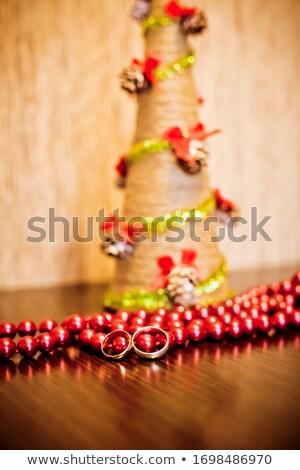 Dedo Pareja árbol de navidad vacaciones partes del cuerpo Foto stock © dolgachov