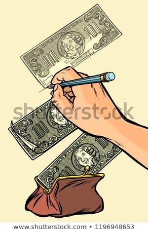 お金 ドル 財布 白 コミック ストックフォト © rogistok