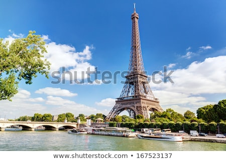 view of Eiffel tower and the river Seine Stock photo © artjazz