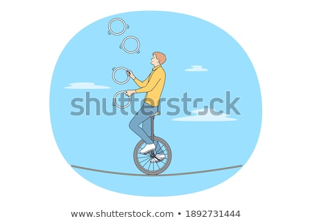 Magical young cyclist riding Stock photo © ra2studio