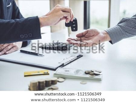 Vendedor enviar clave cliente buena acuerdo Foto stock © Freedomz