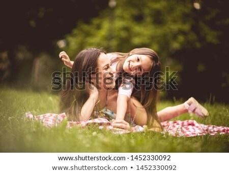 volwassen · spelen · zoals · kind · meisje - stockfoto © ilona75