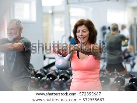 idős · nő · tornaterem · test · egészség · női - stock fotó © photography33