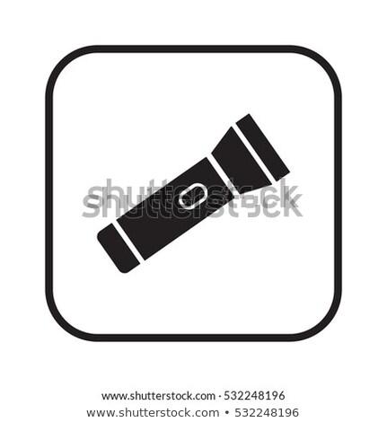 zseb · elemlámpa · fekete · elektromos · izolált · fehér - stock fotó © prill