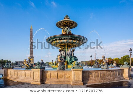фонтан место Париж Франция 12 2015 Сток-фото © meinzahn