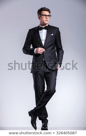 Elegante man smoking kant Stockfoto © feedough