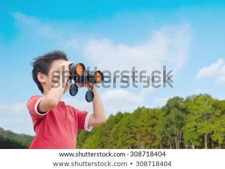Chłopca lornetki lasu wolności hat Zdjęcia stock © wavebreak_media