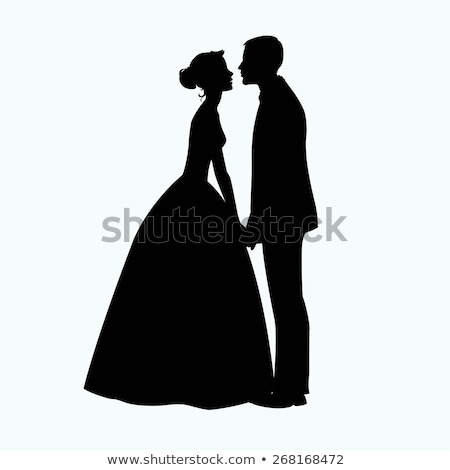 Wedding Silhouette Bride  Stock photo © Krisdog