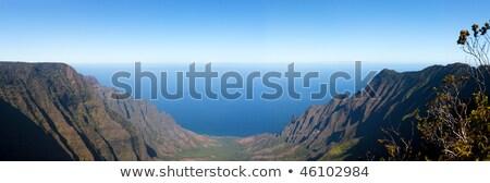 Panorama of Kalalua valley Stock photo © backyardproductions