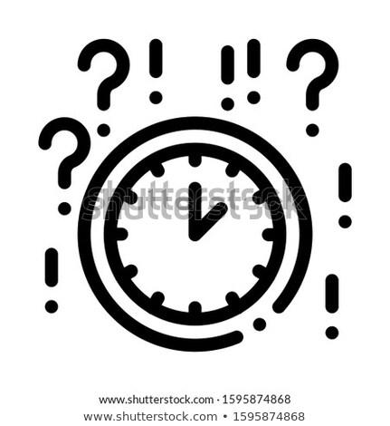 Férfi kérdőjel keret ikon skicc illusztráció Stock fotó © pikepicture