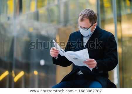 коронавирус эпидемия город горизонтальный выстрел серьезный Сток-фото © vkstudio