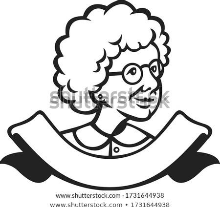 бабушки глядя сторона лента черно белые ретро-стиле Сток-фото © patrimonio