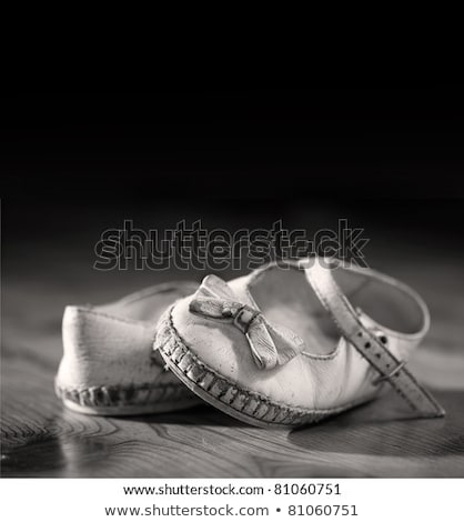 Stock photo: Used baby shoes