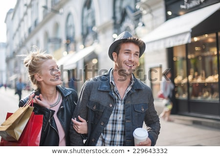 couple hugging with shopping bags stock photo © photography33
