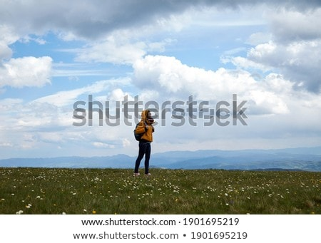 summer mountains landscape with lonesome cloud Stock photo © artjazz