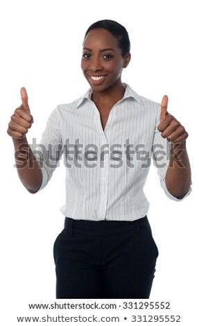 удвоится · улыбаясь · утверждение · успех - Сток-фото © stockyimages