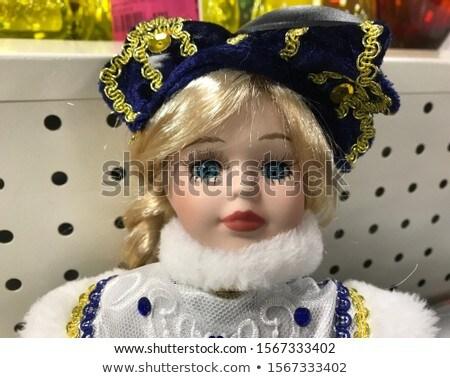 Portrait of a frightened Snow Maiden stock photo © acidgrey
