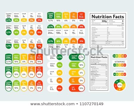 栄養成分表 ストックフォト © studioworkstock