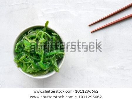 alga · salada · japonês · cozinha · servido · limão - foto stock © Elmiko