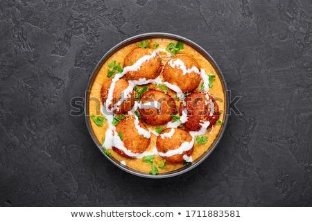húsgombócok · finom · török · házi · zöld · hús - stock fotó © hofmeester