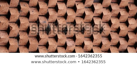 piros · téglafal · textúra · anyag · ipar · építkezés - stock fotó © kitch
