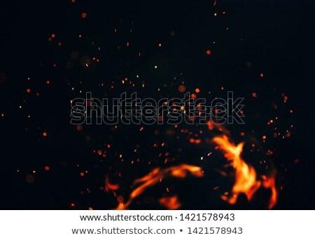 élégant feu design art orange rouge Photo stock © Nejron