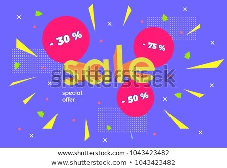 Top Offer Violet Vector Icon Design Stock photo © rizwanali3d