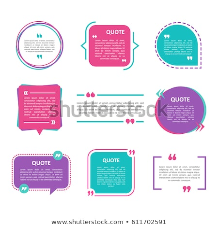 Quotation Mark Frames set with Flat style and space for text. Stock photo © DavidArts