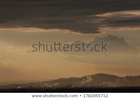 Industrial Linz at sunrise Stock photo © benkrut