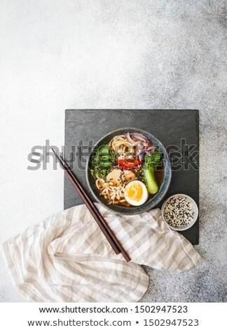 Black slate board and chopsticks Stock photo © vankad