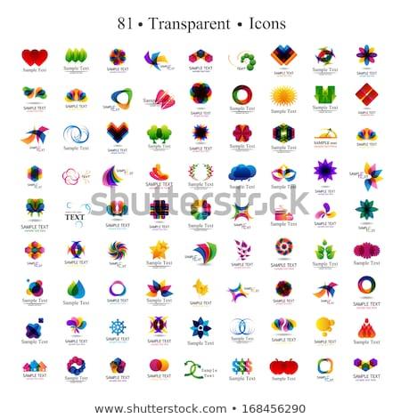 geométrico · vermelho · abstrato · isolado · elemento · logotipo - foto stock © studioworkstock