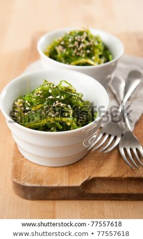 Seaweed salad with sesame seeds ストックフォト © furmanphoto
