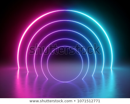 arched rainbow background with reflections Stock photo © SArts
