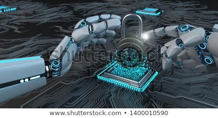 Robot Hands Processor D-Lock Stock photo © limbi007