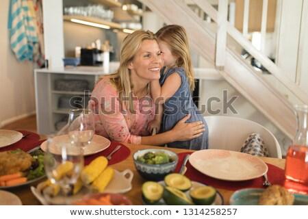 мнение матери дочь уха Сток-фото © wavebreak_media
