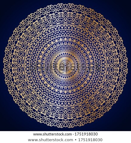 Arabic golden ornament pattern background Vector. Blue glossy color decors Stock photo © frimufilms