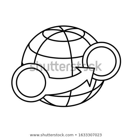 Kör nyilak körül földgömb világ bolygó Stock fotó © kyryloff
