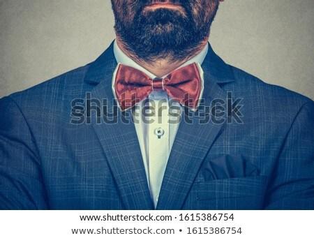 горизонтальный портрет бородатый мужчины жених формальный Сток-фото © vkstudio
