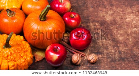 Baked pumpkin and apples Stock photo © olira
