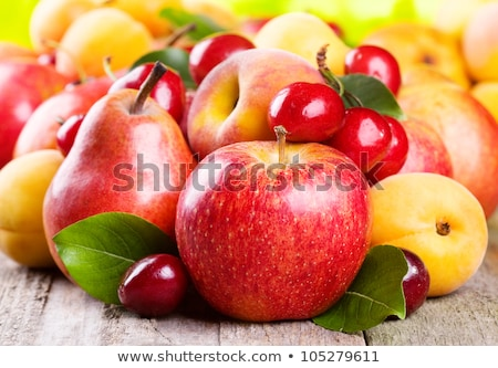 Apricots, pears and cherrys Stock photo © ajlber
