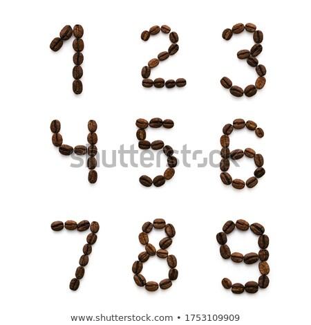 コーヒー · 手紙 · 白 · 1 · アルファベット - ストックフォト © dvarg