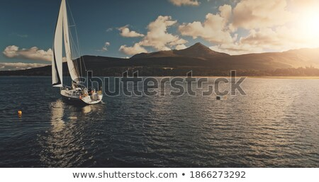 Sailboats in a Bay Stock photo © saje